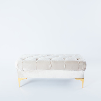 Rectangular 2-Seater Tufted Bench - 100x45x42 cms
