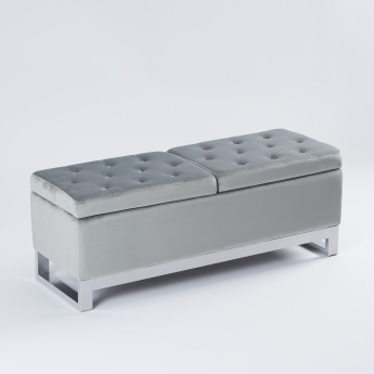 Rectangular 2-Seater Tufted Bench - 122x43x44 cms