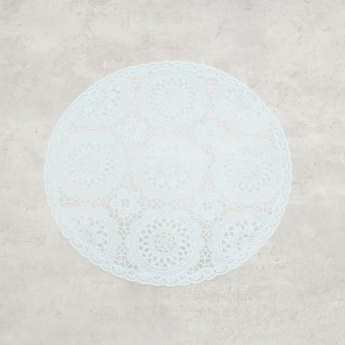 Floral Printed Round Placemat - 38 cms