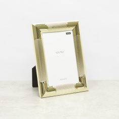 Metallic Glazed Photo Frame - 4x6 inches