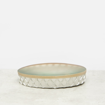Engraved Soap Dish with Frosted Detail