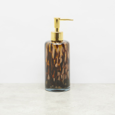 Leopard Glossy Lotion Dispenser with Push-Pump Nozzle