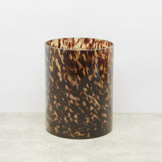 Leopard Printed Waste Bin with Glossy Finish
