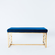 A LA Mode 2-Seater Velveteen Bench - 99x46x46 cms
