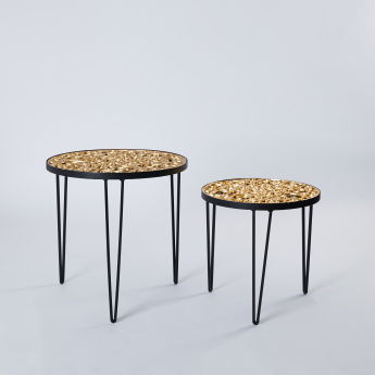 Arabic Calligraphy Collection 3-Legged Table - Set of 2