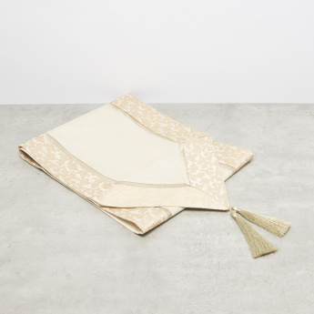 June Jacquard Textured Table Runner with Tassel Detail - 33x180 cms