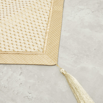 Jacquard Textured Table Runner with Tassel - 33x180 cms