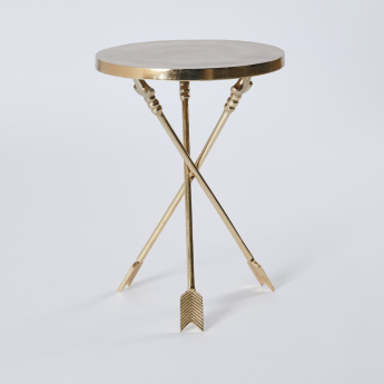 Metallic Accent Table - 40x40x56 cms