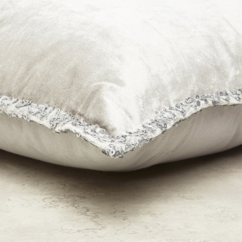 Plain Sequin Detail Filled Cushion - 45x45 cms