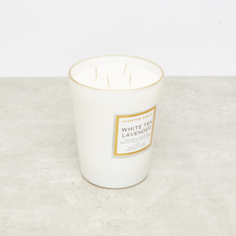 Scented Space White Tea Lavender 4-Wick Jar Candle - 900 gms