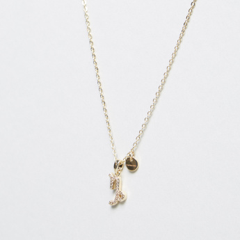 Sentiments Necklace with Capricorn Stone Studded Pendant