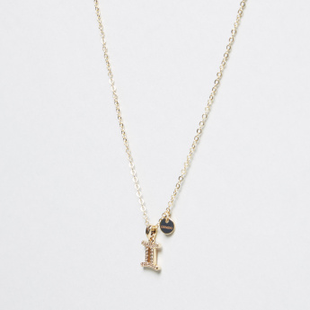 Sentiments Necklace with Gemini Stone Studded Pendant