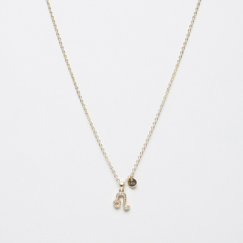 Sentiments Necklace with Leo Stone Studded Pendant
