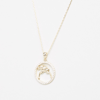 Sentiments Retrograde Necklace with Zodiac Sign Capricorn Pendant