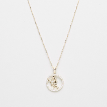 Sentiments Retrograde Necklace with Zodiac Sign Sagittarius Pendant