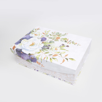 Punch Studio Lilac & Sage Printed Nested Storage Box - 43x29x13.3 cms