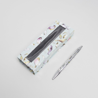 Punch Studio Printed Birds Boxed Pen