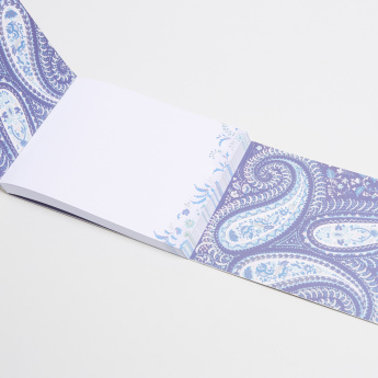 Punch Studio Paisley Printed Flap Notebook
