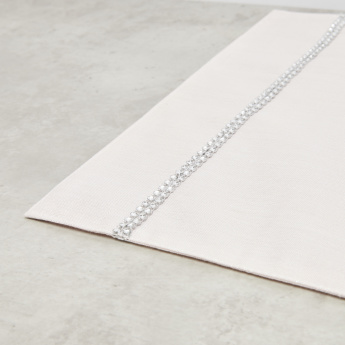 Textured Rectangular Placemat with Embellished Detail - 30x45 cms