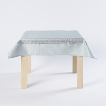 Embellished Lurex Table Cover - 85x85 cm