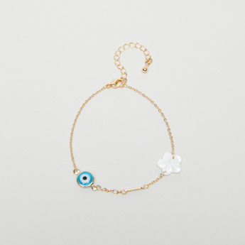 Sentiments Arabic Letter Alif Bracelet with Lobster Clasp Closure