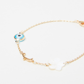 Sentiments Arabic Letter Baa Bracelet with Lobster Clasp Closure