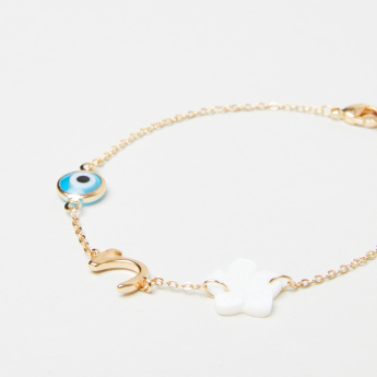 Sentiments Arabic Letter Haa Bracelet with Lobster Clasp Closure