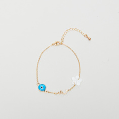 Sentiments Arabic Letter Shiin Bracelet with Lobster Clasp Closure