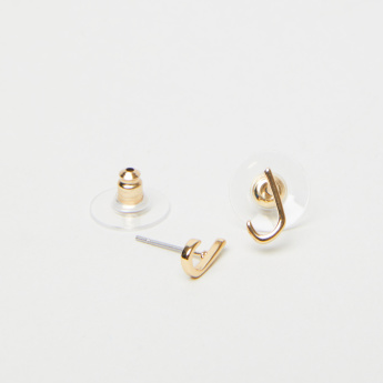 Sentiments Arabic Letter Laam Stud Earrings