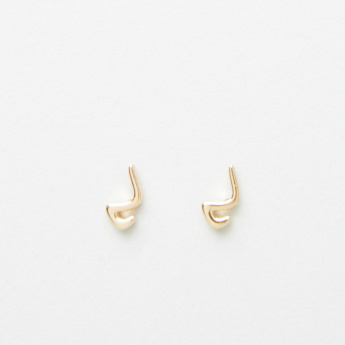 Sentiments Arabic Letter Miim Stud Earrings