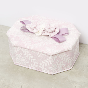 Floral Patterned Octagonal Jewellery Box
