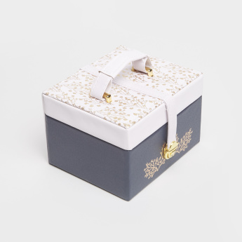 Printed Jewelry Box with Handle - 15.5x13.5x11 cms