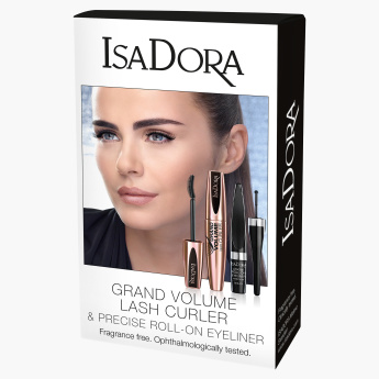 Isadora Grand Volume Lash Curler & Precise Roll-On Eyeliner