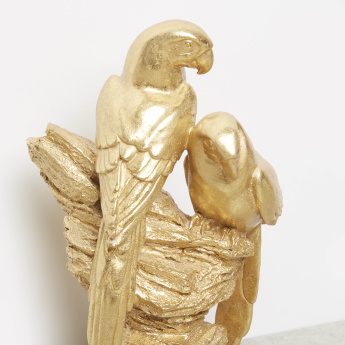 Metallic Finish Parrot Figurine - 16.5x8.5x25.5 cms