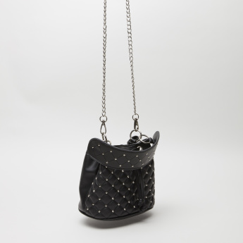Sasha Quilted Crossbody Bag with Tie-Up Closure
