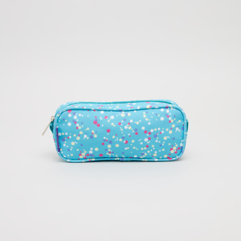 J World Printed Pouch with Zip Closure