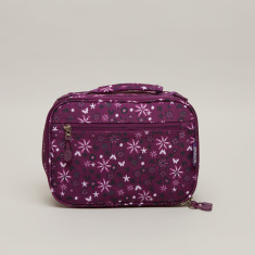 J World Floral Printed Lunch Bag with Zip Closure