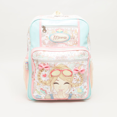 Minmie Goggles Print Backpack with Shoulder Straps - 31x41 cms
