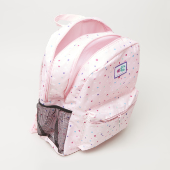 Printed Backpack with Zip Closure - 42x30x43 cms
