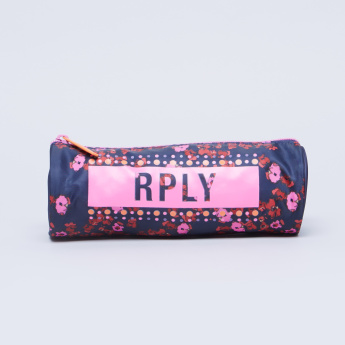 Replay Floral Print Cylindrical Pencil Case