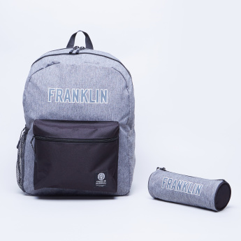 Franklin & Marshall Printed Pencil Case with Zip Closure