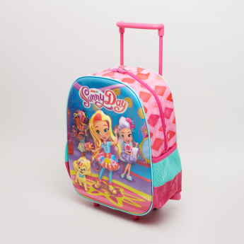 Sunny Day Printed Double Handle Trolley Backpack - 43x12x30 cms