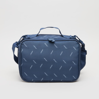 New Expressions Printed Leaves Lunch Bag with Zip Closure