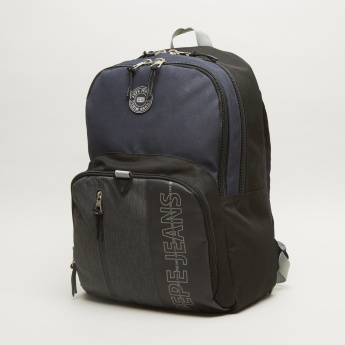 Pepe Jeans Ason Black Backpack with Zip Closure - 33x21x44 cms
