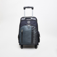 Pepe Jeans Ason Printed Trolley Backpack - 32x45x15 cms