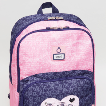 Enso Learn Print Backpack with Shoulder Straps - 33x21x44 cms