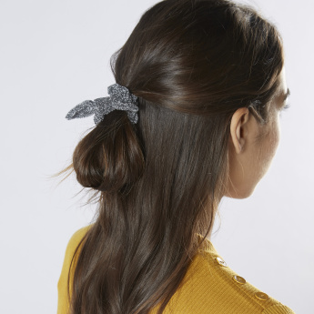 Textured Scrunchies with Cat Ear Detail - Set of 2