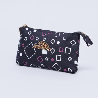 Miss Lemonade Squares Printed Pencil Case with Zip Closure