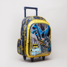 Batman Printed Trolley Backpack with Zip Closure - 32x15x45.7 cms
