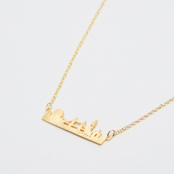 London Skyline Collection Necklace with Lobster Clasp Closure